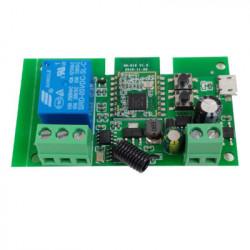 Comutator inteligent cu releu inteligent 5W-32V cu 1 banda, cu contact uscat si comutator momentan, Zigbee + RF