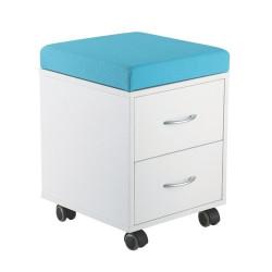 Dulap mobil /taburet pentru depozitare ErgoK SID Albastru
