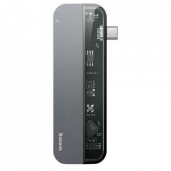 HUB Adaptor Baseus Multifunctional USB Typ C PD (60W in) / USB Typ C (15W out) / HDMI 4K / 2x USB 3.0 gri (CAHUB-TD0G)