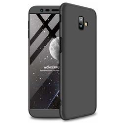 Husa 360° Matte Full Protection Gema Mixt pentru Samsung Galaxy J6 Plus 2018 J610 (fata + spate ) , negru