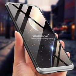 Husa 360° Matte Full Protection Gema Mixt pentru Xiaomi Mi 8 Lite , silver