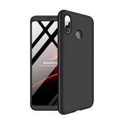 Husa 360° Matte Full Protection Gema Mixt pentru Xiaomi Mi Max 3 (fata + spate ) , negru