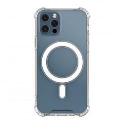 Husa telefon din gel,magnetica Clear Magnetic Case MagSafe pentru iPhone 12 Pro / iPhone 12 transparent