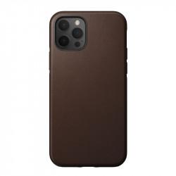 Husa telefon din piele naturala Nomad MagSafe Rugged, maron- iPhone 12 Pro Max