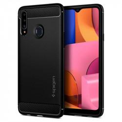 Husa telefon Spigen Rugged Armor pentru Samsung Galaxy A20s Matte Black
