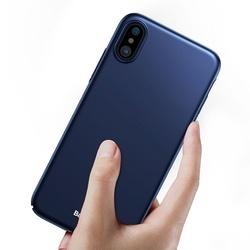 Husa telefon tip bumper , ultra subtire si usoara Baseus Thin pentru Apple iPhone X/XS , albastru