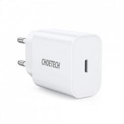 Incarcator priza Choetech AC EU Fast Charging , USB Type C Power Delivery 20W 3A white (PD5005-EU)