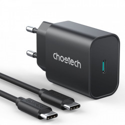 Incarcator priza Choetech fast PPS Power Delivery 25W 3A + cablu USB Type C 2m black (PD6003)
