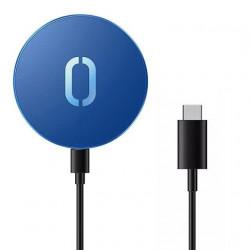 Incarcator Qi fara fir Joyroom 15 W pentru iPhone (compatibil MagSafe) + cablu USB tip C albastru (JR-A28)