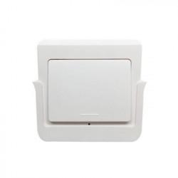Intrerupator de perete RF fara fir SmartWise RFM1 cu 1 banda, detasabil de pe suport