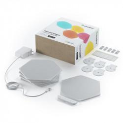 Kit 5 panouri luminoase inteligente Nanoleaf Shapes Hexagons Starter Kit, cu senzor muzica inclus, multi-touch control, LED RGBW, Wi-Fi