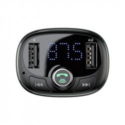 Modulator FM Baseus cu microSD USB Bluetooth (albastru)