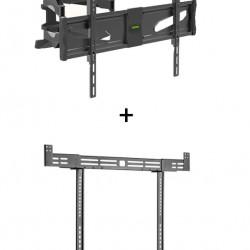 Pachet cu Suport TV Blackmount WPLB-2402, Full Motion, Dual Arm si Suport Soundbar Blackmount SB-55