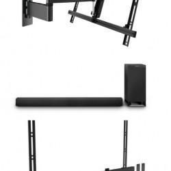 Pachet soundbar cu Suport TV W53080, Suport Soundbar Vogel's Sound 3550 si Soundbar Panasonic SC-HTB700