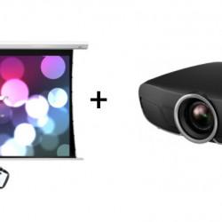 Pachet videoproiectie cu Epson 4K EH-TW9400 si ecran electric EliteScreens Saker SKT135XHW-E6, 16:9