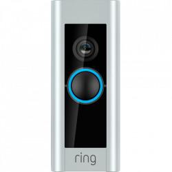 RING Pro Video Doorbell, Sonerie profesionala, Infrarosu, Video HD 1080p, Sunet Bidirectional, Senzori De Miscare, Gri