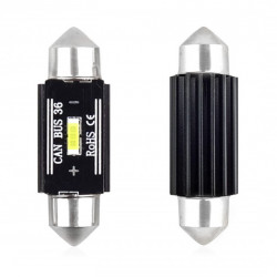 Set 2 x LED CANBUS 1 SMD UltraBright 1860 Festoon 36mm White 12V/24V