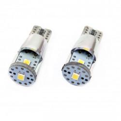 Set 2 x LED CANBUS 3SMD 2835 T10e (W5W) ALU White 12V/24V