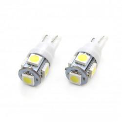 Set 2 x LED STANDARD T10 W5W 5xSMD 5050 12V