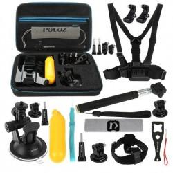 Set de 20 de accesorii Puluz pentru camerele sport - PKT11