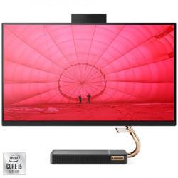 "Sistem All-in-One Lenovo IdeaCentre 5 24IMB05 cu procesor Intel® Core™ i5-10400T pana la 3.60 GHz, Comet Lake, 23.8"", Full HD, IPS, 8GB DDR4, 1TB HDD + 256GB SSD, Intel UHD Graphics, Free DOS, External USB DVD-RW"