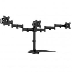 """Stand pentru 3 monitoare de masa Multibrackets 3392, 15""""- 27"""", max. 8 kg / monitor, Negru"""