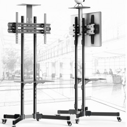 Stand TV de podea BlackMount T28, pentru diagonale de pana la 140 cm