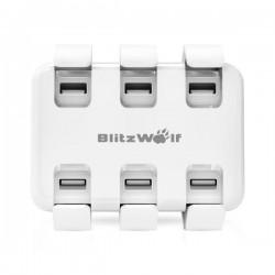 Statie de incarcare rapida USB BlitzWolf BW-S4 50W , alba