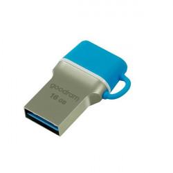 Stick USB Goodram pendrive 16 GB USB 3.2 Gen 1 60 MB/s (rd) - 20 MB/s (wr) blue (ODD3-0160B0R11)