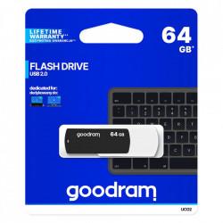 Stick USB Goodram pendrive 64 GB USB 2.0 20 MB/s (rd) - 5 MB/s (wr) flash drive black and white (UCO2-1280KWR11)