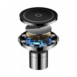 Suport auto Baseus magnetic 3 in 1 + Incarcator inductie + Incarcator auto si Cablu microusb WXER-01
