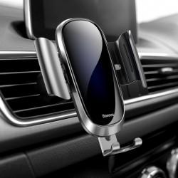 Suport auto din aluminiu si sticla securizata , Baseus Future Gravity , gri