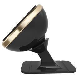Suport telefon magnetic auto, Baseus 360, cu banda adeziva, gold
