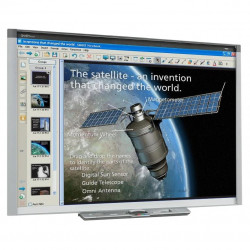 Tabla interactiva SMART Board® SBX885, format 16:10, multitouch 4 utilizatori, 221 cm, gesturi, software