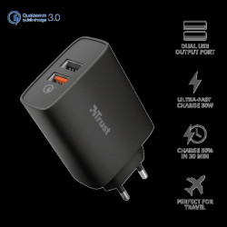 Trust Qmax 30W QC 3.0 Fast Dual USB-A