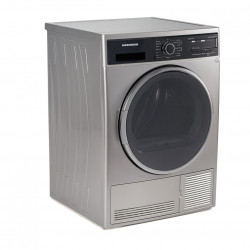 Uscator de rufe Heinner HHPD-804SA++, Pompa caldura, 8 kg, Display LED, Lumina cuva, Anti-sifonare, Clasa A++, Argintiu