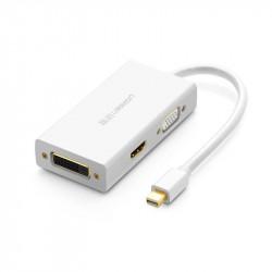 Adaptor Mini DisplayPort la HDMI/VGA/DVI UGREEN MD114 , alb