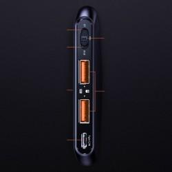 Adaptor pentru jocuri mobile Baseus Gamo 2x USB HUB GA01 pentru tastatură și mouse-ul negru (GMGA01-01)