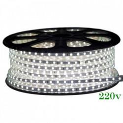 Banda LED 220V 2700K, 12W/m, Ip65, 120Led/M 3014