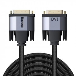 Baseus cablu adaptor bidirecțional 3m Enjoyment Series DVI la DVI