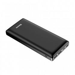 Baterie externa Baseus Mini JA , 30000 mAh, porturi 2xUSB QC3.0, 1xUSB C-PD ,1xLightning , 1x Micro USB , 3A , Negru