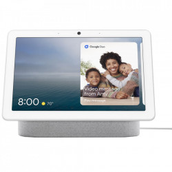 "Boxa inteligenta Google Nest Hub Max, HD touchscreen 10"", Camera wide 6.5 MP, Difuzoare stereo, Wi-Fi, Alb"