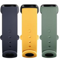 Bratara Xiaomi (originala) pentru Mi Band 5, TPU (set 3 buc.) – Albastru, Galben, Verde