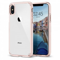 Bumper Spigen iPhone Xs Max, Ultra Hybrid - Rose Crystal
