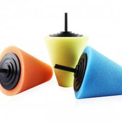 Burete de lustruit in forma de con pentru roti auto 3 buc