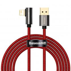 Cable USB la Lightning Baseus Legend Series, 2.4A, 2m (red)