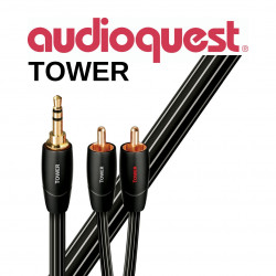 Cablu audio 3.5mm - 2RCA AudioQuest Tower 0.6m