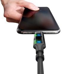 Cablu de date 1.2M 3in1 Baseus Excellent 2.0A USB-C, Lightning, Micro-USB - Negru
