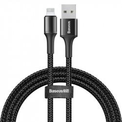 Cablu de date cu lumina LED, Baseus Halo USB Lightning 2.4A 1m negru (CALGH-B01)