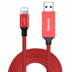 Cablu de date si incarcare Lightning , Baseus Artistic , 5M Quick Charge 3.0 QC 3.0 , rosu